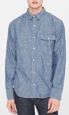 Awesome selvedge chambray shirt