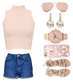"""""""I Like pink"""" by chanticleer-pruners ❤ liked on Polyvore featuring WearAll, Topshop, Betsey Johnson, Nixon, Casetify, Elina Linardaki and vintage"""