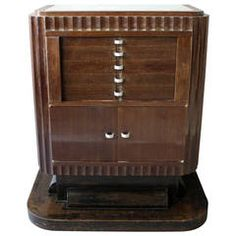 Fine French Art Deco Silverware Cabinet by Christian Krass