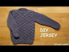 Jersey o suéter para niño de 8 a 10 años tejido a dos agujas paso a paso - YouTube