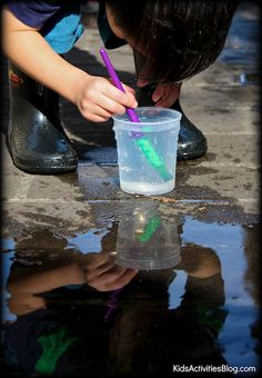 Keeping It Simple: Painting with Water. Easy activity when visiting Grandma!