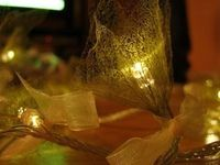 DIY skeleton leaf fairy lights