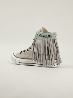 Converse - Fringed Hi-Top Sneakers
