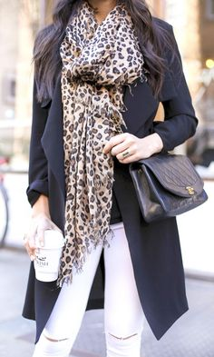 Supremely soft, oversized leopard print scarf