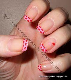 Leopard Print Nails, French Acrylic Nails, Heart Nails, Heart Print, Red Nails, Valentines Day, Valentine Nails, Pretty Nails, Nail Designs