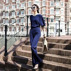 Cheap jumpsuit white, Buy Quality jumpsuit baby directly from China jumpsuit cotton Suppliers: New Summer 2015 Fashion Deep V Neck Casual Rompers Womens Jumpsuit Elegant OL Lady Slim Jumpsuits Overalls Plus Size Inspiration, Overalls Women, Chiffon, Casual Jumpsuit, Jumpsuit With Sleeves, How To Look Classy, Stay Classy, Jumpsuits For Women