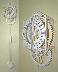 Working Japanese Papercraft Clock Free Template Download