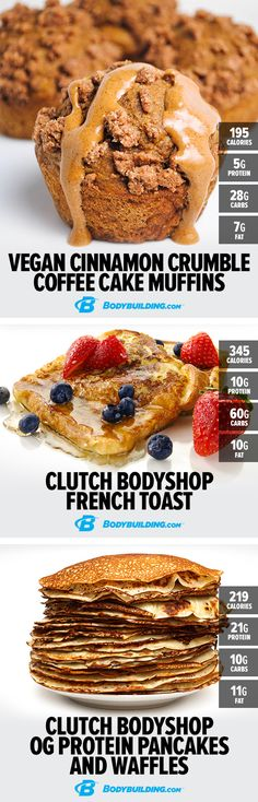 PROTEIN IN THE CLUTCH: 7 TASTY TREATS. Build your body while baking up a storm with these gain-fueling goodies. #recipes Bodybuilding.com