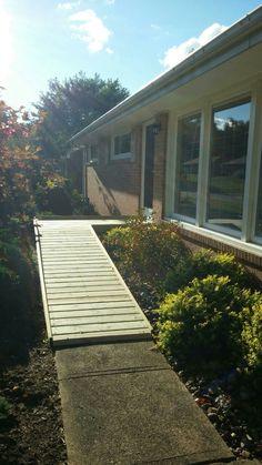 Superbe Our New Wheelchair Ramp