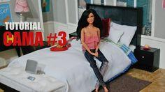 Tutorial Barbie - Como fazer uma CAMA #3 para sua Barbie, Monster High, EAH