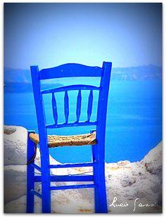 Greece - Santorini  - Wish I was sitting in this chair!                                                                                                                                                          Greece - Santorini - The chair                                   ..