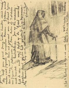 Old Woman Seen from Behind 1882 Vincent van Gogh
