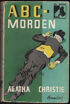 old Swedish edition of Agatha Christie's The A.B.C. Murders. Bonniers.