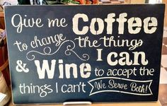 #coffee and #wine