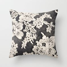 black+and+white+lace-+Photograph+of+vintage+lace+Throw+Pillow+by+Sylvia+Cook+Photography+-+$20.00