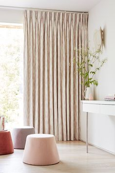 Made-to-measure curtains are a great choice for softening harsh lines and adding warmth to large spaces Made To Measure Curtains, It Is Finished, House Design, Spaces, Nice, Simple, Home Decor, Custom Curtains, Interior Design