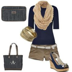 Five pocket clutch and Cindy tote in dark denim. Super adorable for a night out at the beach :)