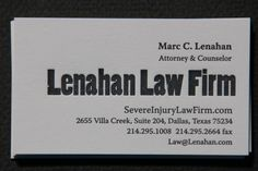 64 best letterpress business cards images on pinterest embossed lenahan law letterpress business cards on strathmore soft white 110 stock by slowprint reheart Images