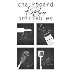Free Kitchen Printables : from The Cottage Market - perfect for kitchen themed bridal showers as decor or framed favors