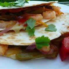 #recipe #food #cooking Shrimp Quesadillas