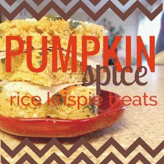 Little Bit Funky: what i made for monday {pumpkin spice rice krispie treats}