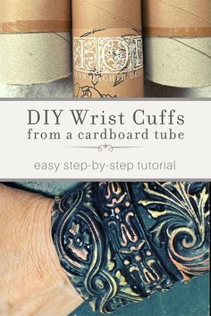 Learn how to DIY wrist cuffs with IOD moulds in this step-by-step tutorial. Making vintage jewelry couldn't be easier when you use Iron Orchid Designs! Vintage Jewelry, Handmade Jewelry, Diy Jewelry, Jewelry Ideas, Earrings Handmade, Plastic Cup Crafts, Craft Stick Crafts, Craft Ideas, Decor Ideas