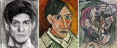 Picasso self-portrait at age 18 25 and 90 Picasso Self Portrait, Picasso Portraits, Pablo Picasso, Picasso Style, Cubism, Historical Photos, Twitter, Daily Funny, Crazy Funny