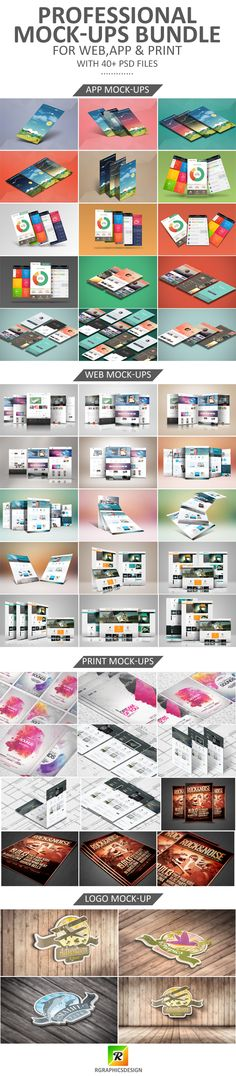 Professional Mock-Ups Bundle ~ R-GRAPHICS DESIGN