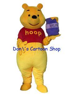 Winnie bear costume Mascot,Long Plush mascot character,Winnie the Pooh Cartoon Character from China