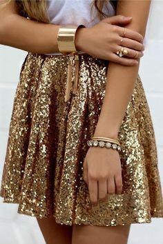 Fashion Sequins High Waist Mini Pleated Skirts