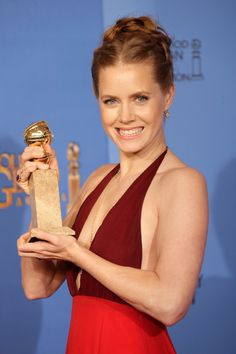 Cheese! Amy Adams was too cute at the Golden Globes.