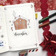 Get inspired with this collection of beautiful, winter bullet journal layouts! These adorable snowmen, trees, winter doodles & November, December and January themes will inspire the bujo addict to create even more creative holiday spreads. Bullet Journal Christmas, December Bullet Journal, Bullet Journal Monthly Spread, Bullet Journal Cover Page, Bullet Journal 2020, Bullet Journal Hacks, Bullet Journal Writing, Bullet Journal Layout, Bullet Journal Ideas Pages