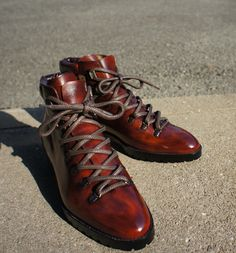 The Fashionable Hiking Boot by Japanese bespoke shoemaker Imai Hiroki