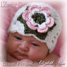 """Baby Children Flower Hat """"Kindred Spirits Beanie"""" $5.95"""