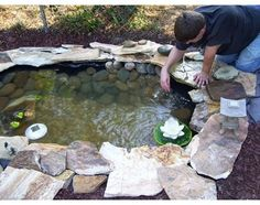 Learn how to build a pond! Try these DIY pond tutorials for your backyard. These are simple outdoor projects even beginners can do! Backyard Water Feature, Ponds Backyard, Garden Ponds, Backyard Ideas, Outdoor Projects, Garden Projects, Diy Projects, Goldfish Pond, Building A Pond