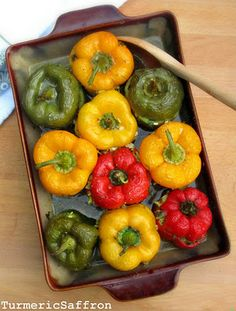 Persian style stuffed peppers