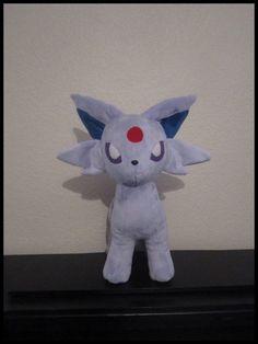 Espeon Pokemon Plush by ZeldettePlushies on Etsy, €150.00