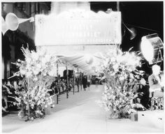 Early 1930s movie premiere