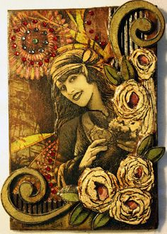 Finally a Sunday to Myself! Time in the studio finishing up some pieces that have been on the board. I love these days I have for my art. Deviant Art, Art Journal Pages, Journal Covers, Art Journals, Victoria Art, Steampunk Accessories, Postcard Art, Atc Cards, Art Courses