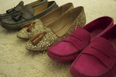 Packing for Paris - #silver #gold #pink #flats