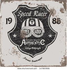 Vintage Motorbike Race | Hand drawing | T-shirt Printing | Badge Applique Label  by grafiz, via ShutterStock
