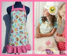 cupcake party ideas: chef apron and hat