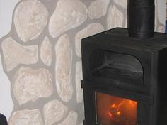 Perfekt Spruce Up Your Fireplace With A Dry Stone Wall. #diy. //
