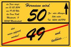 10 WITZIGE EINLADUNGSKARTEN 30 40 50 Geburtstag Einladungen  Geburtstagseinladung In Möbel U0026 Wohnen, Feste U0026