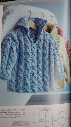 Knitting For Kids, Free Knitting, Baby Knitting, Baby Gifts To Make, Cute Baby Gifts, Aran Knitting Patterns, Baby Sweater Patterns, Knit Crochet, Crochet Hats