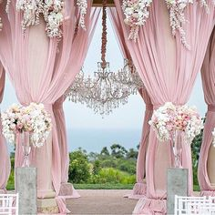 Stunning pink wedding decorations. #Wedding #Inspiration ❤