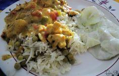 een klassieker kipkerrie met rijst