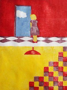 """Autor: Ana Arista, """"La Decisión"""", técnica: grabado, zieglerografía."""