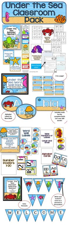 {New} Under the Sea Classroom Pack and FREEBIE!
