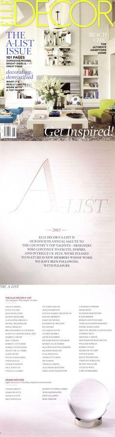Elle Decor A List 2013 Jeffrey Alan Marks INC  #jeffreyalanmarks #JAM #Themeaningofhome